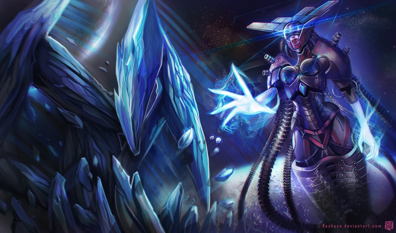 league_of_legends_lissandra_space_cyborg_splash_by_kashuse-d6wt6ur