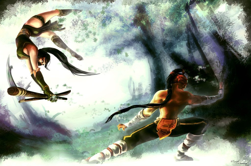 akali_vs_lee_sin_by_nfouque-d5l2j75