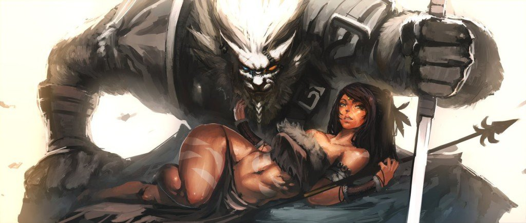 rengar_and_nidalee_by_chrbr-d6lnvfu