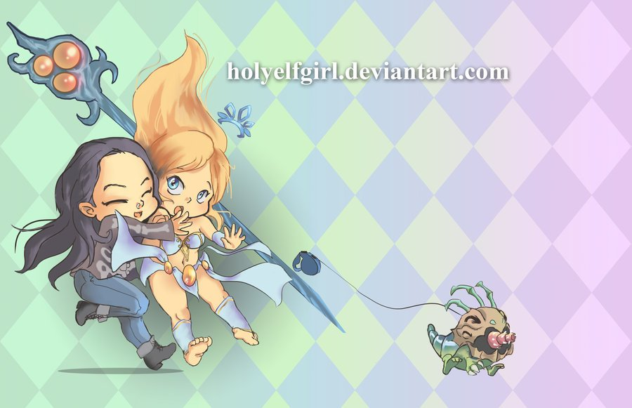janna_and_kog_maw_commission_by_holyelfgirl-d6qh1f9