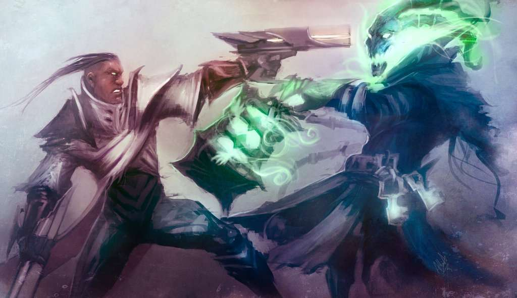 league_of_legends_rivals__thresh_vs_lucian_by_artisticphenom-d6x8x8f