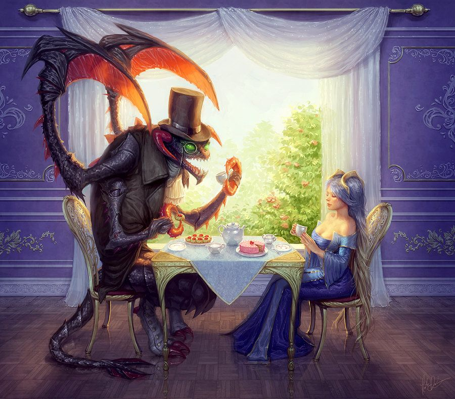 teatime_with_cho__gath_and_sona_by_yumedust-d3axat0