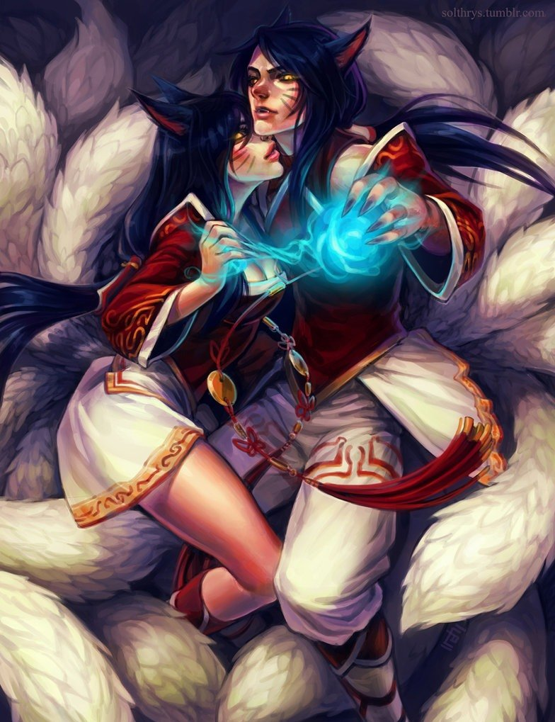 ahri_and_male_ahri_by_irahi-d6r9njn