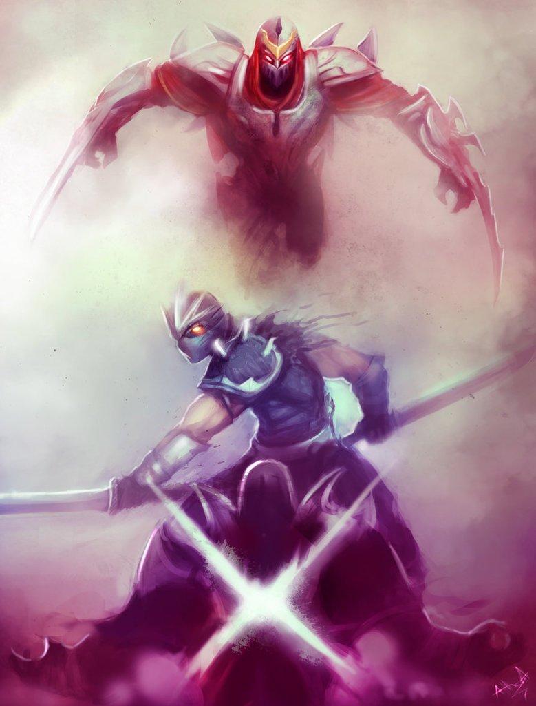 league_of_legends_rivals__shen_vs_zed_by_artisticphenom-d6qnlag