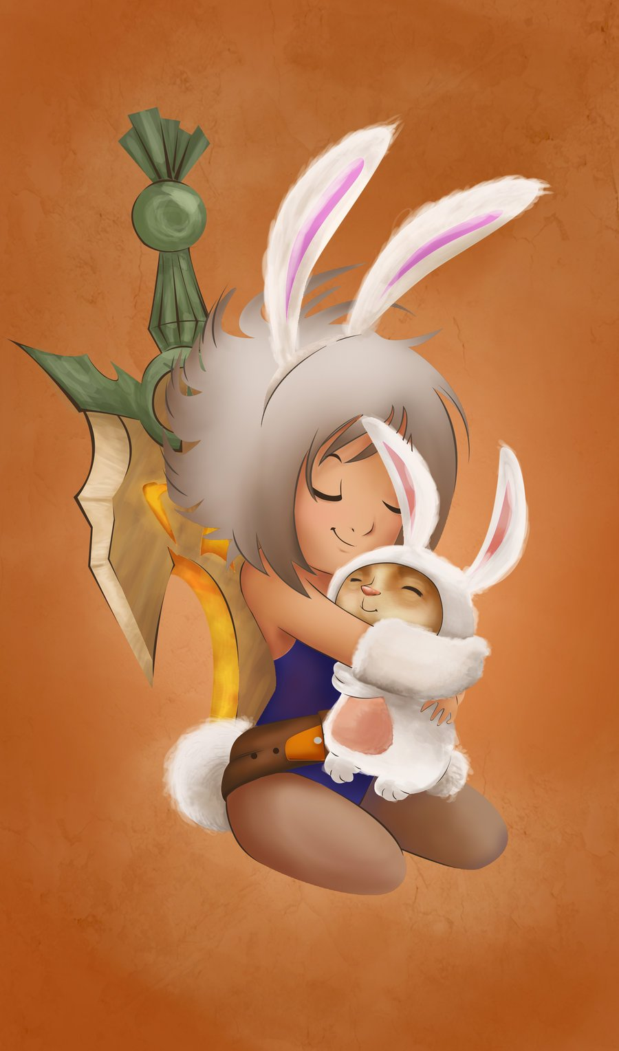 bunny_riven_and_bunny_teemo_by_happymeadow-d4yb22s