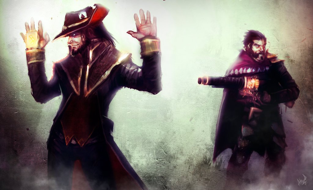 league_of_legends_rivals__twisted_fate_vs__graves_by_artisticphenom-d6hvviw