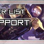Tier Lista SUPPORT